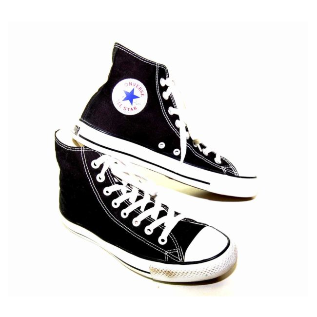 Vintage Black Converse All Star High Tops