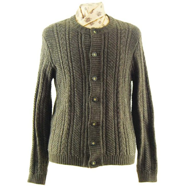Vintage Brown Cable Knit Sweater