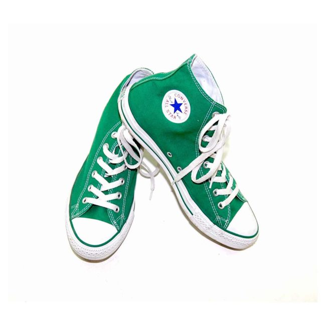 Vintage Green Converse All Star High Tops