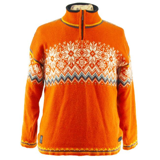 Orange Norwegian Sweater