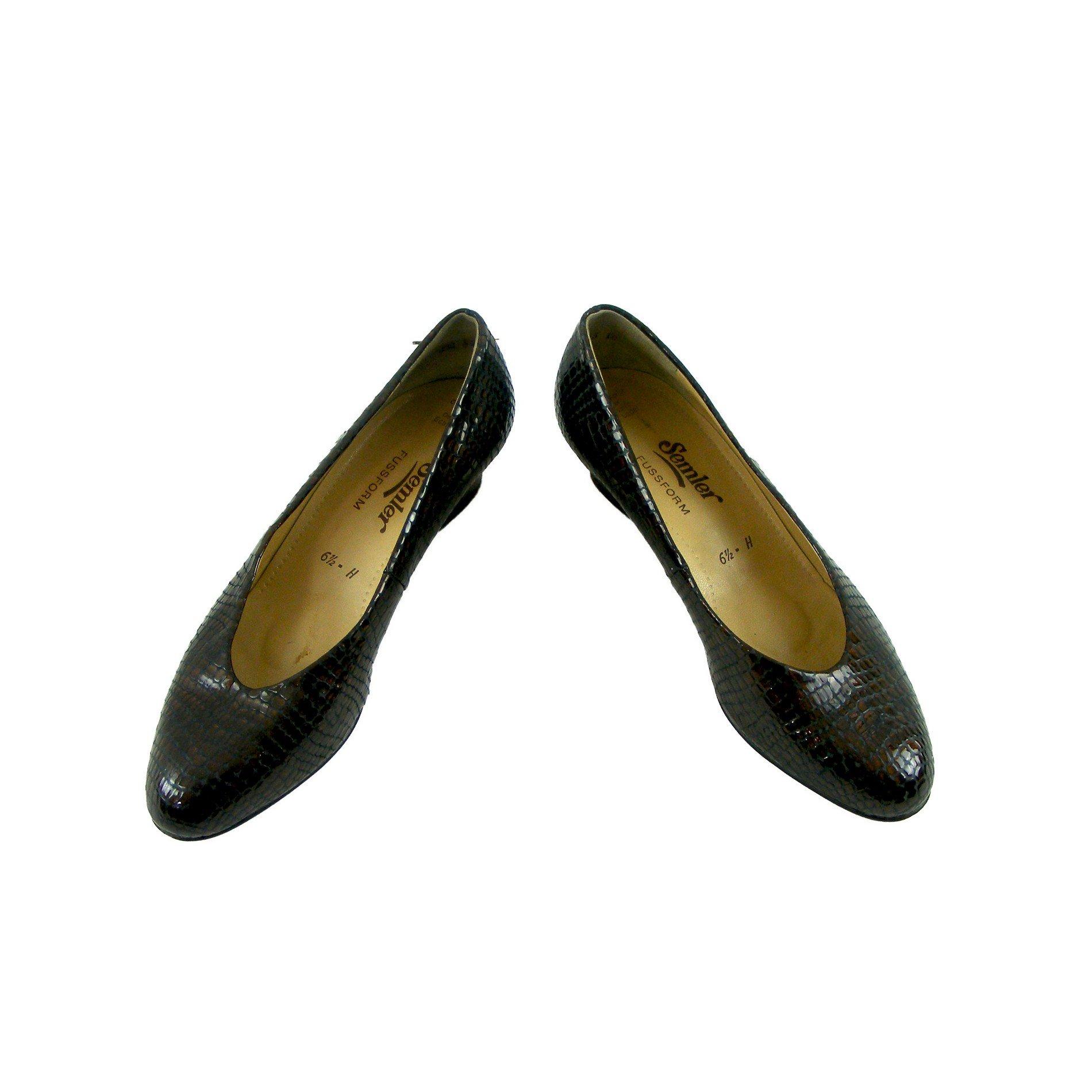 60s Ladies Vintage shoes - 6.5 - Blue