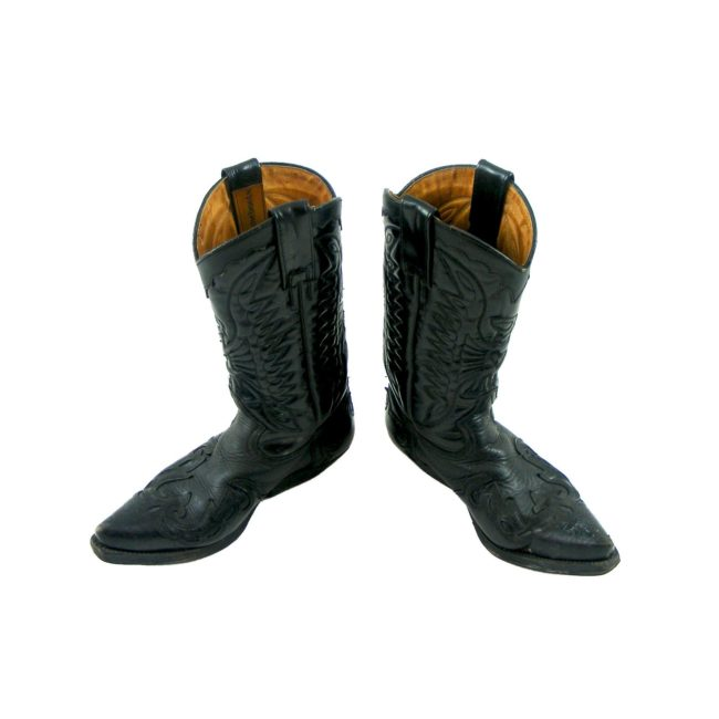 Black Leather western boots