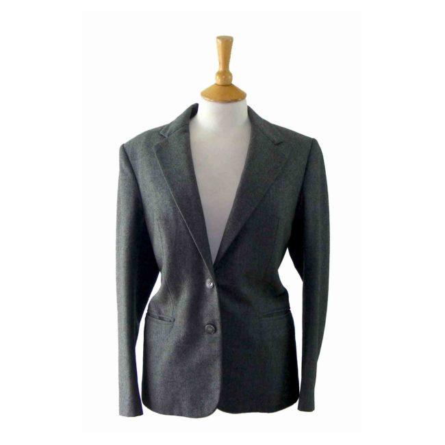 Womans Grey Wool Blazer