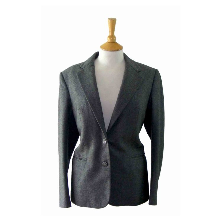 Womans Grey Wool Blazer