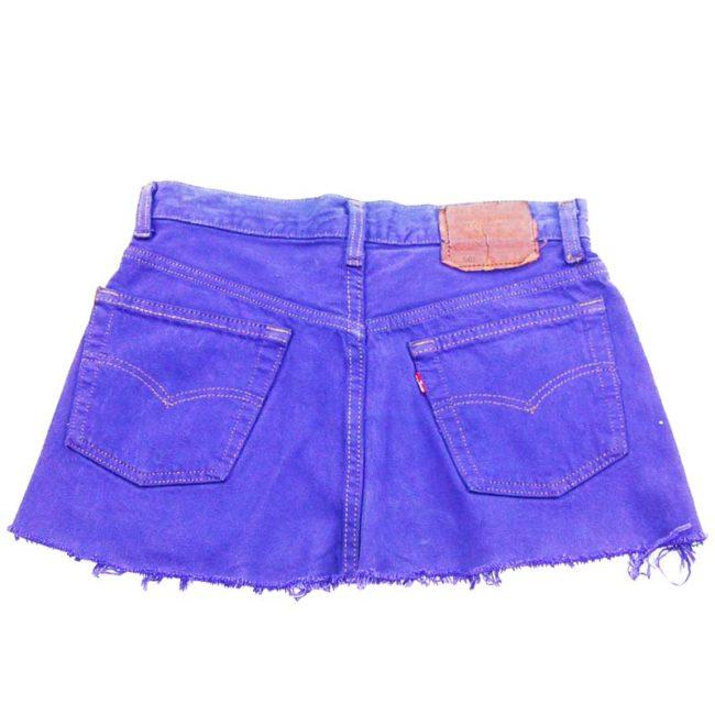 back of 90s Frayed Levis Mini Skirt