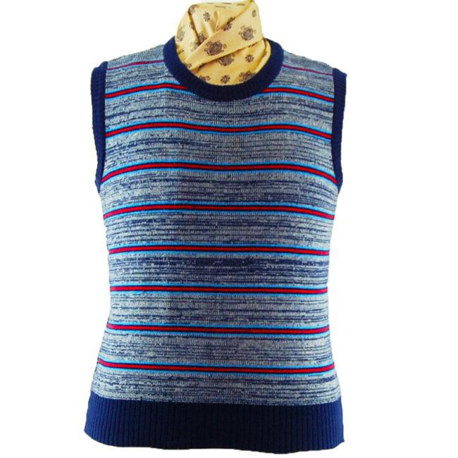 70s Authentic Vintage Stripey Vest