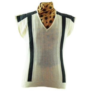 70s Cream Knit Vintage Vest