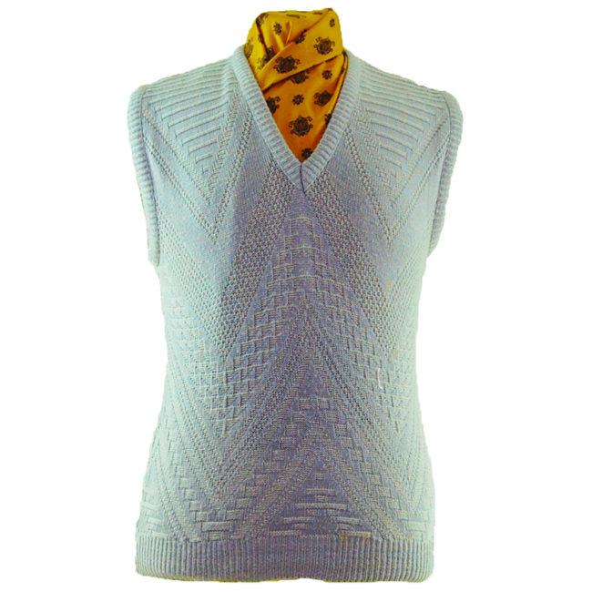 70s Crochet Knit Vest