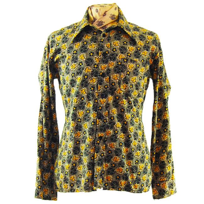 70s Dark Paisley Inspired Shirt