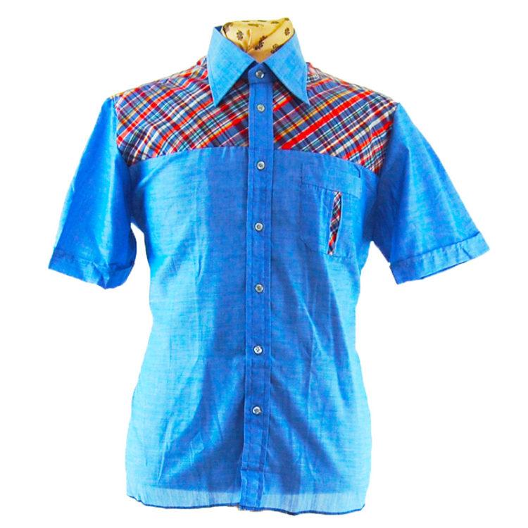 70s Multicolored Checkered Shirt