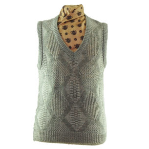 70s V-neckline Diamond Knit Vest