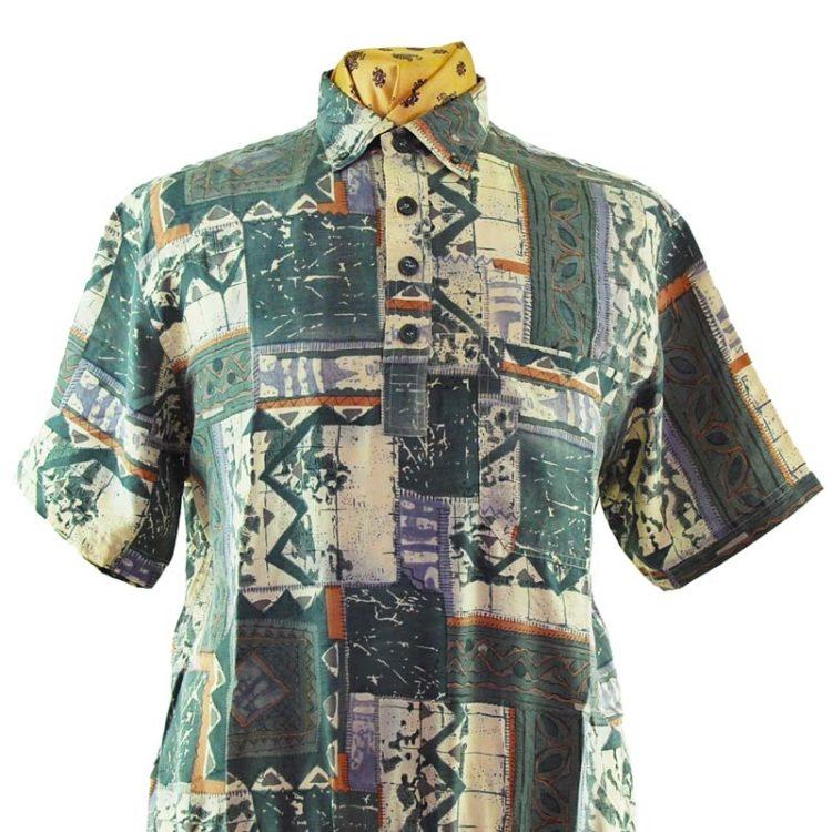 80s Elasticated Vintage Silk Shirt