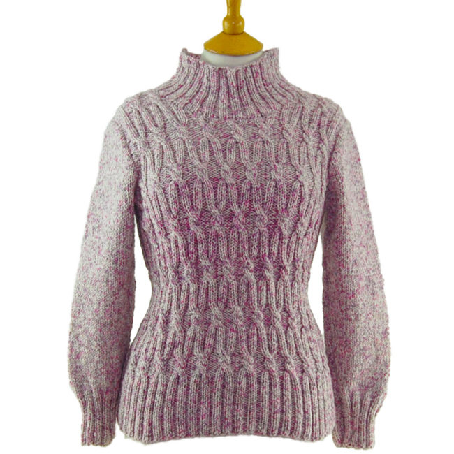 80s Lilac Funnel Neck Jumper