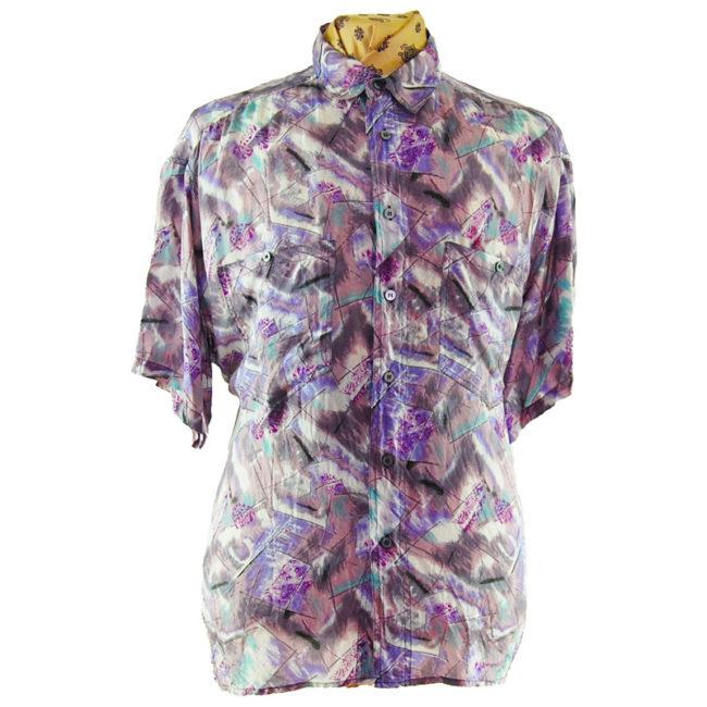 80s Lilac Vintage Silk Shirt