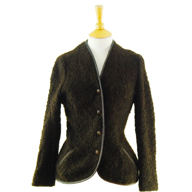 80s Mohair Brown Cardigan