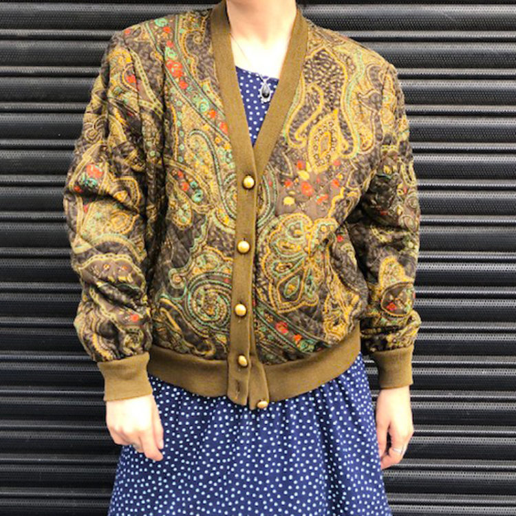 80s Paisley Vintage Bomber Jacket