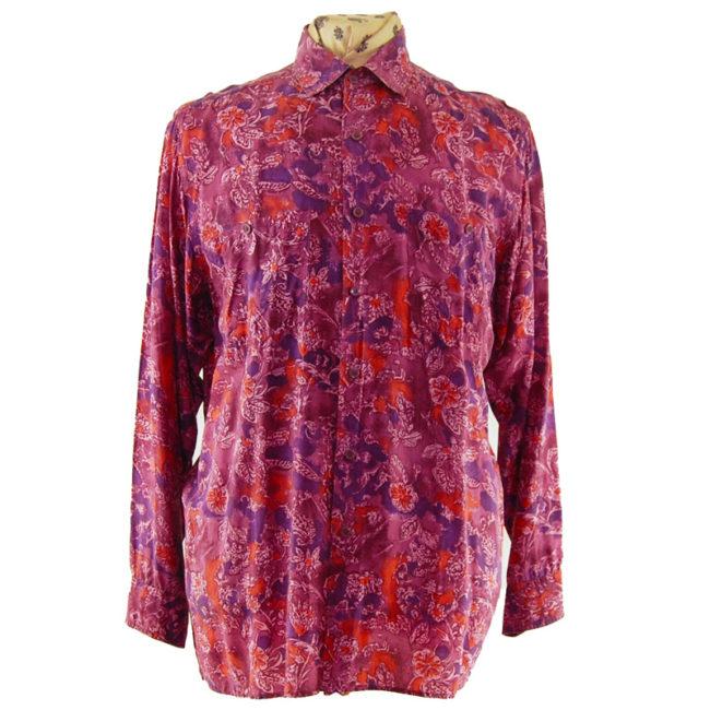 80s Pink Vintage Silk Shirt