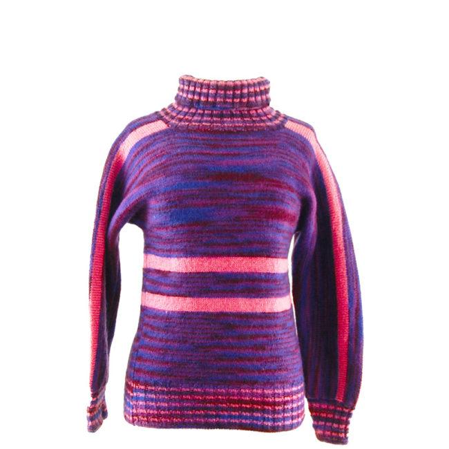 80s Purple Womens Winter Sweater