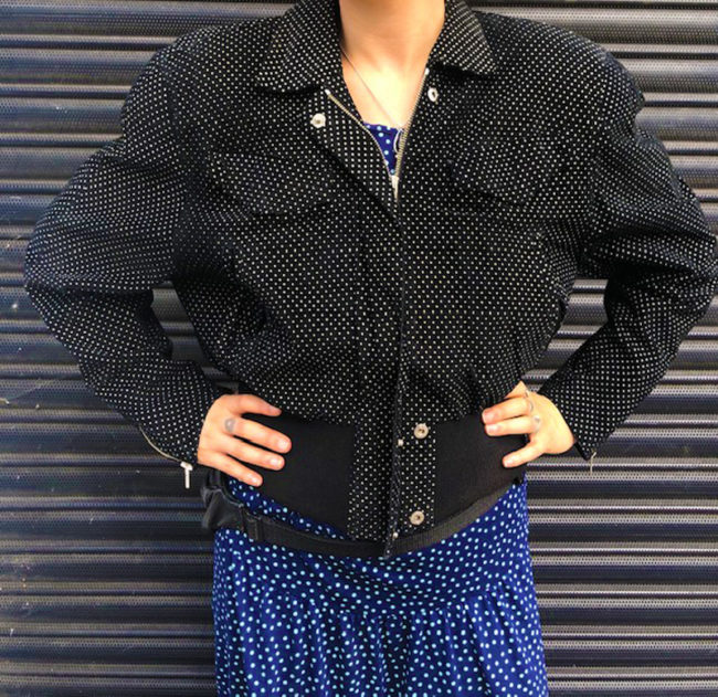 80s Thick Polka Dot Bomber Jacket80s Thick Polka Dot Bomber Jacket