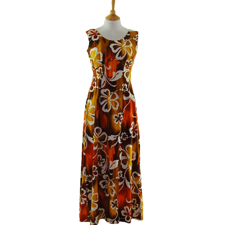 Colour Burn Hawaiian Dress