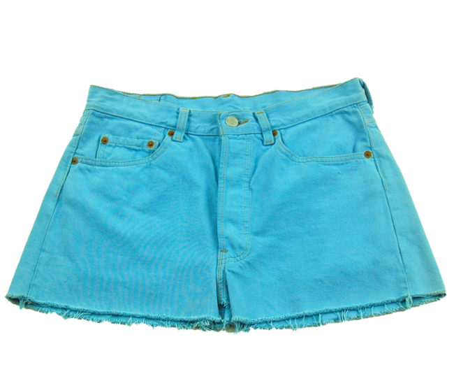 90s Baby Blue Denim Mini Skirt