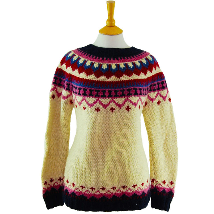 90s Colorful Winter Jumper
