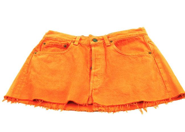 90s Levis Burnt Orange Mini Skirt