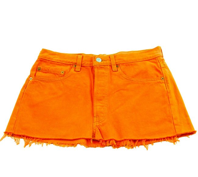 90s Levis Orange Jean Skirt