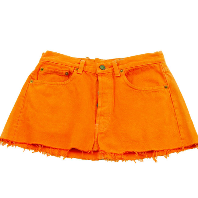 90s Levis Orange Mini Skirt