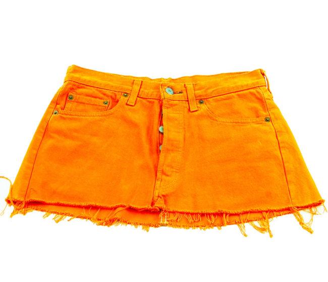 90s Orange Levis Low Rise Skirt90s Orange Levis Low Rise Skirt