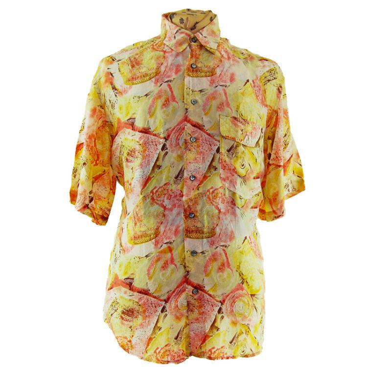 90s Pink Feminine Silk Shirt