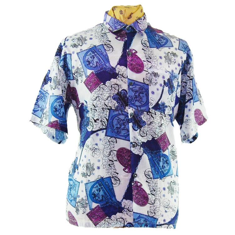 90s Renaissance Style Silk Shirt