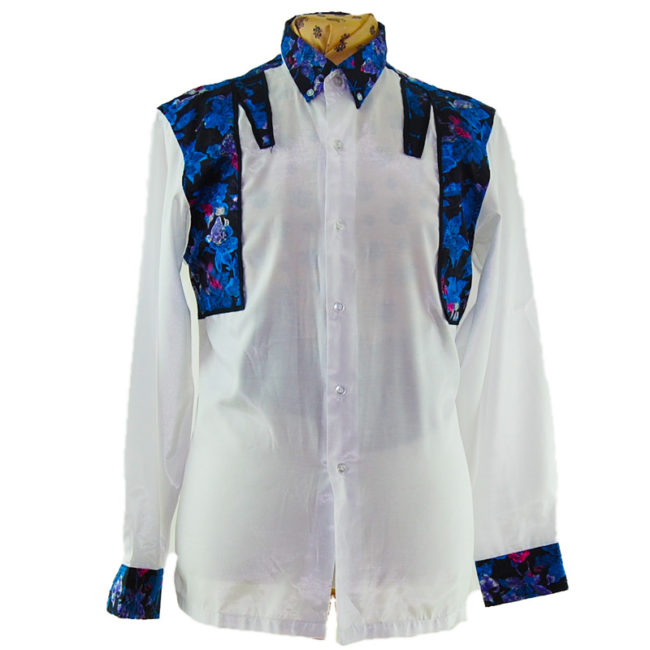 90s Snazzy Synthetic Silk Shirt90s Snazzy Synthetic Silk Shirt