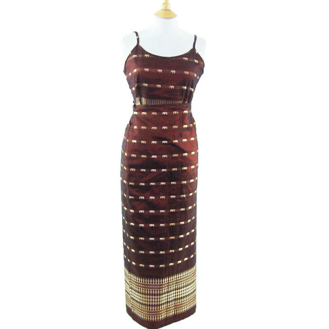 90s Two Piece Maxi Skirt Dress