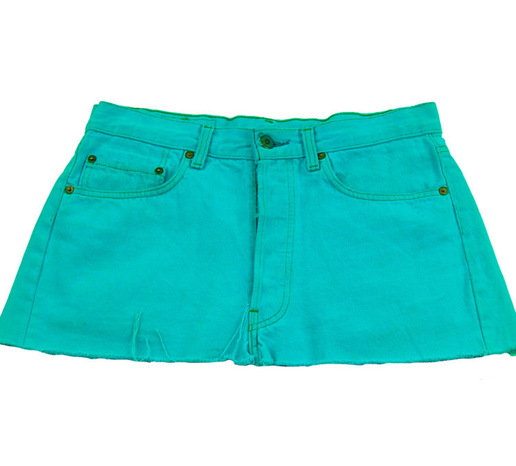 90s Vibrant Blue Low Rise Skirt