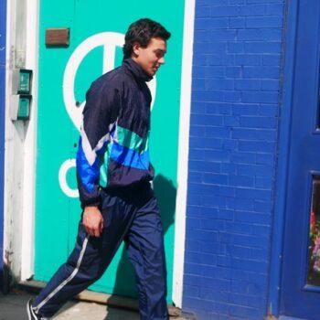 Blue17 vintage mens shell suit