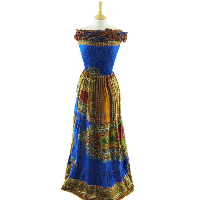 Ethnic Bandeau Maxi Dress