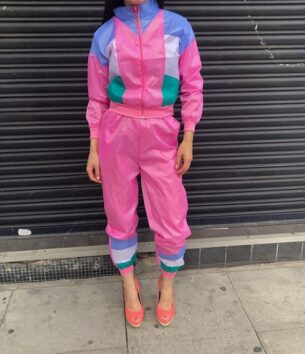 Ladies Pink Scouser Shell Suit