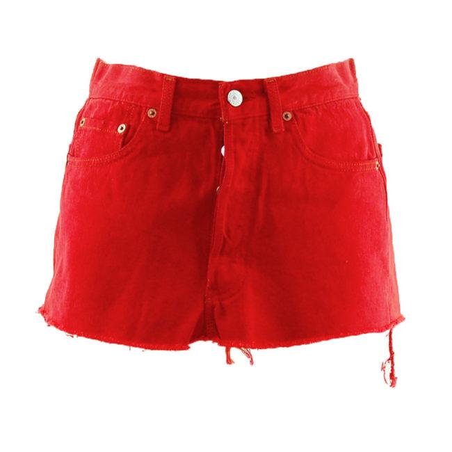 Levis 90s Deep Red Denim Skirt