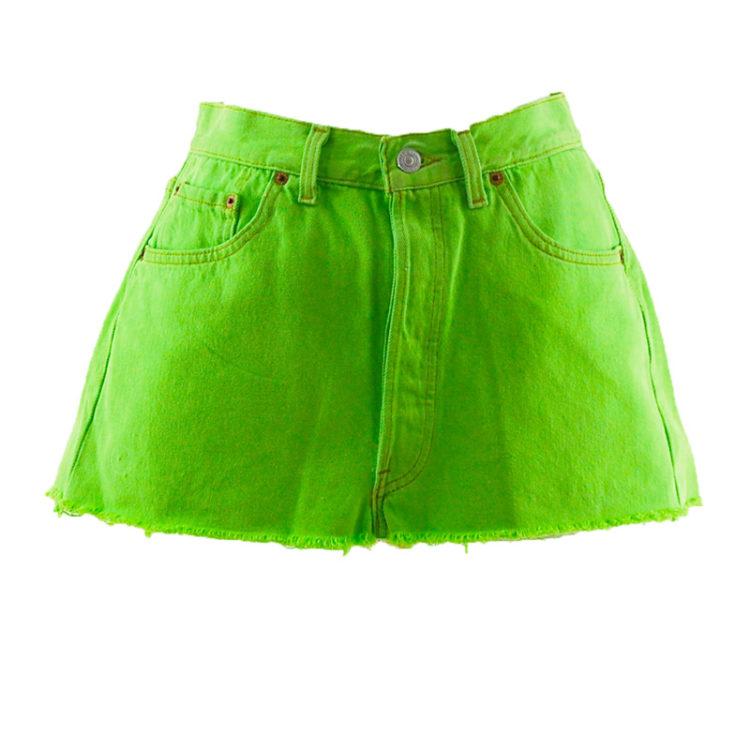 Levis 90s Neon Lime Green Skirt