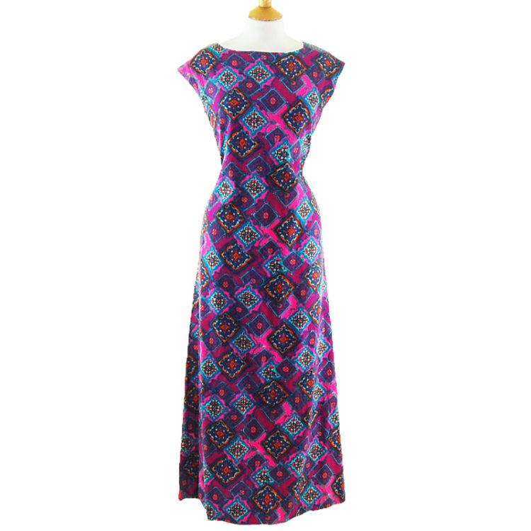 70s Ethnic Print Dress