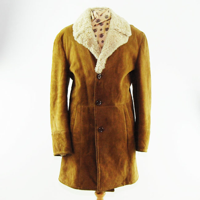 Vintage Light Sheepskin Coat