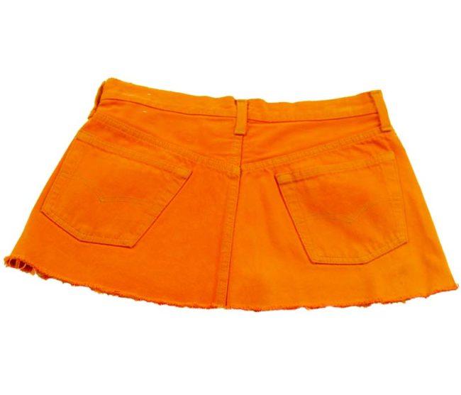 back of back of 90s Levis Bright Orange Mini Skirt