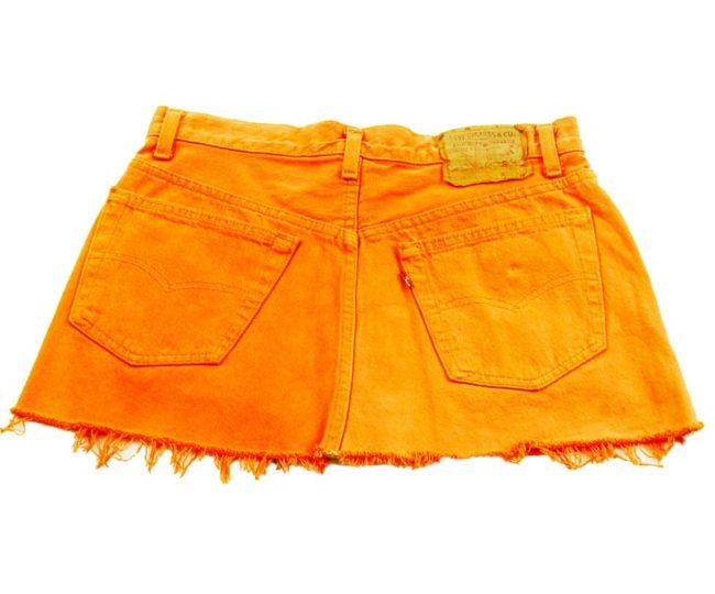 back of 90s Levis Orange Mini Skirt