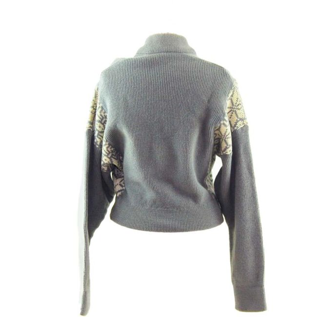 back of Ladies Winter Zip Up Cardigan