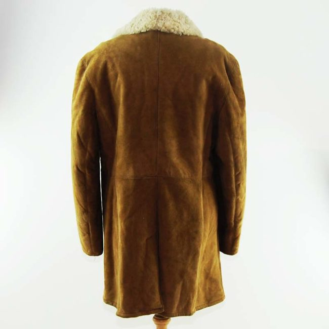back of Vintage Light Sheepskin Coat