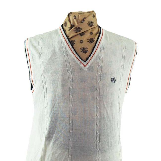 close up of 70s True Vintage Sorts Vest