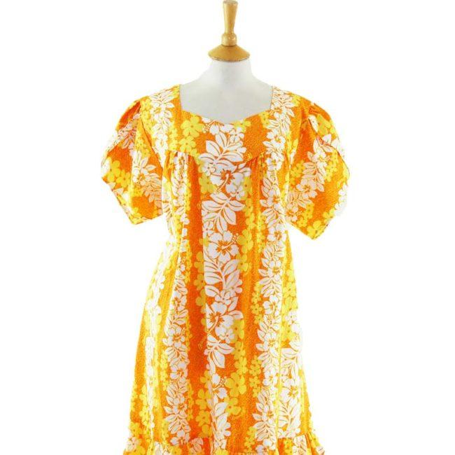 close up of Hawaiian MuuMuu Dress