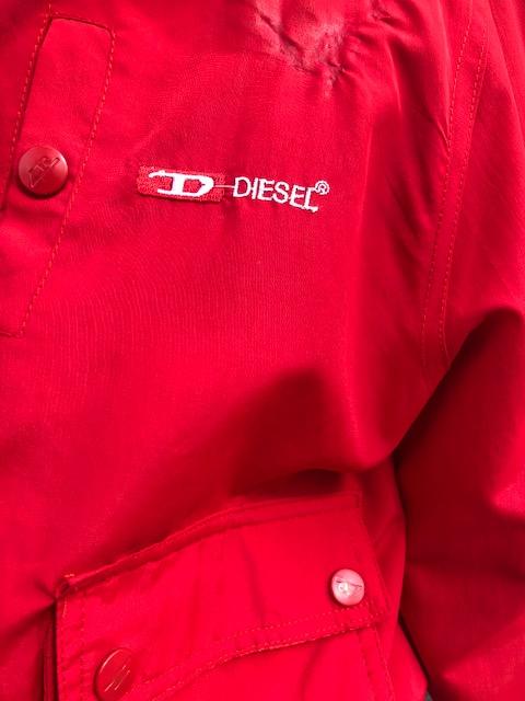 label of 90s Red Diesel Waterproof Jacket