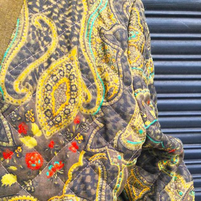pattern of 80s Paisley Vintage Bomber Jacket